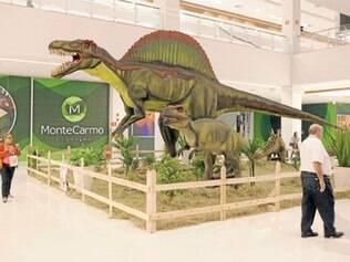 As 20 peças da exposição estão espalhadas pelo mall e impressionam pelo tamanho real