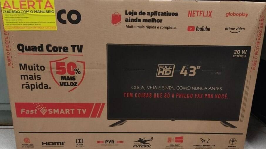 Televisão foi parcelada em 10 vezes pelo suspeito do crime
