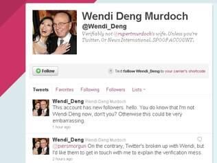 Perfil da esposa de Murdoch é falso