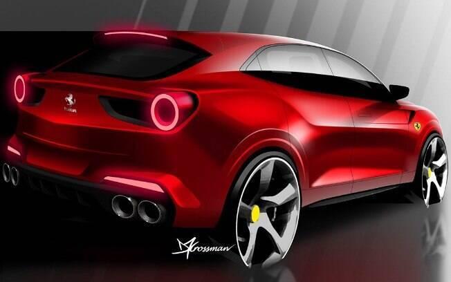 Ferrari Purosangue ainda não foi revelado; o designer Daniel Crossman imaginou como ele será