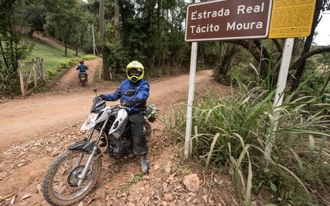 A Yamaha XTZ 150 Crosser em uma semana de trilhas pela estrada Real