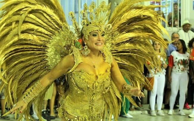 Susana Vieira, rainha de bateria da Grande Rio. Foto: AgNews
