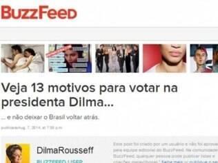 Presidente Dilma estreia no BuzzFeed