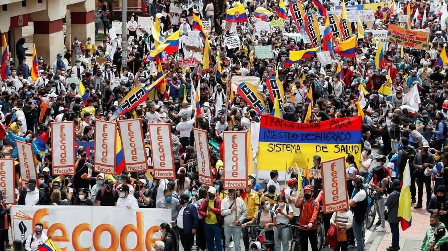 protesto colombiano
