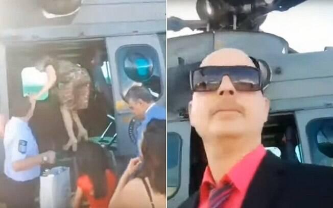 Parentes de Bolsonaro usaram helicóptero da FAB para ir ao casamento de Eduardo