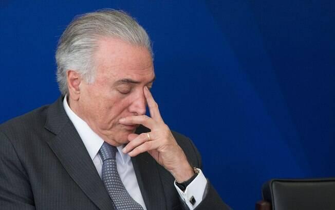 Michel Temer (MDB) foi citado pela Polícia Federal como tendo atuado em tentativa de compra de silêncio de Eduardo Cunha