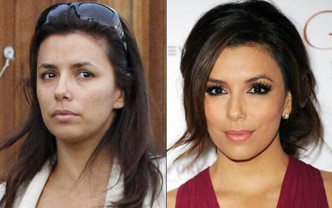 Eva Longoria: com e sem make up