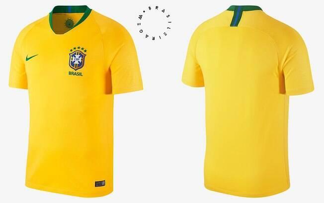 Camisa da Seleção Brasileira modelo torcedor