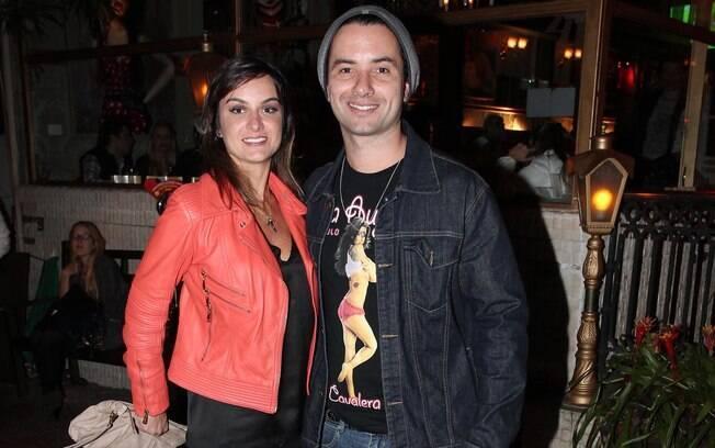 Marco Luque e a mulher Flávia Vitorino