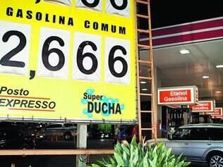 Economia. Posto na  Via Expressa, no bairro Carlos Prates, em BH,   vende o combustível a R$ 2,666