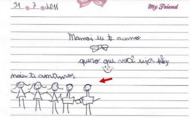Desenho dos filhos de Gugu