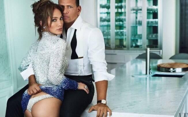 Jennifer Lopez e Alex Rodriguez em ensaio sensual para a Vanity Fair
