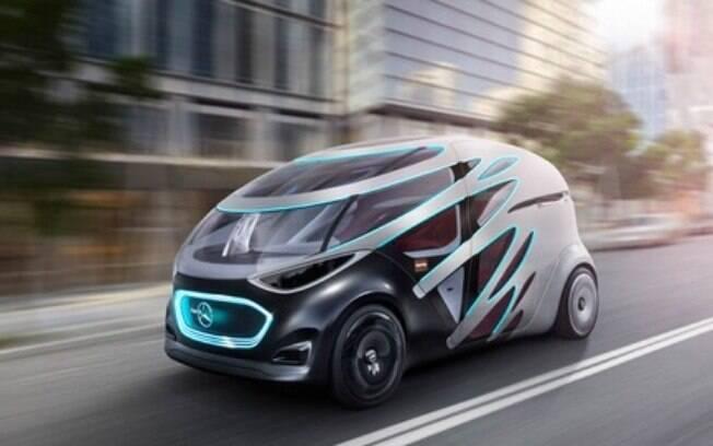 Mercedes criou para o CES 2019 o conceito Vision URBANETIC, um van autônoma que transporta pessoas e mercadorias