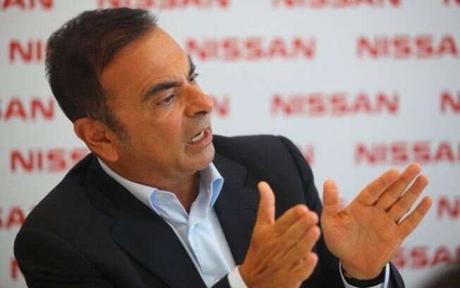 Carlos Ghosn esteve à frente do Grupo Renault-Nissa por 16 anos.  Acima,  está na inauguração da fábrica da Nissan no Brasil