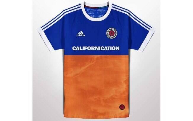 Camisas de futebol com bandas de rock famosas no mundo: Red Hot Chili Peppers