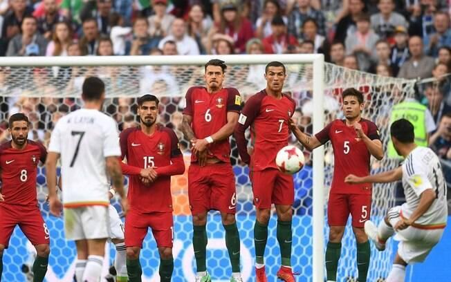 Portugal e México ficaram no empate por 2 a 2 na Copa das Confederações