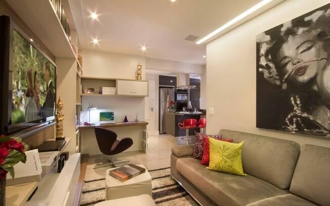 Home Tv Sala Pequena ~  que separavam a cozinha da sala e do home office Foto Divulgação