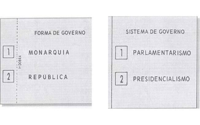 Cédula de voto mostrando a última tentativa da Família Real Brasileira voltar ao poder
