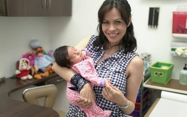 Estefânia decidiu ter a Anne nos Estados Unidos para dar mais possibilidades à filha