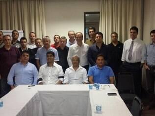 Representantes de todos os clubes estiveram presentes na reunião