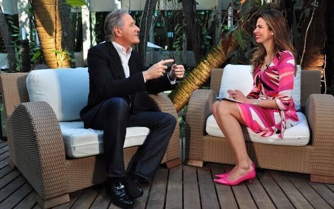 Encontro entre Roberto Justus e Luciana Gimenez aconteceu na sede da emissora, em Osasco, na região metropolitana de São Paulo