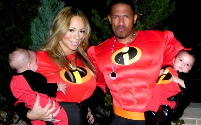Mariah Carey, Nick Cannon e os filhos Monroe e Moroccan