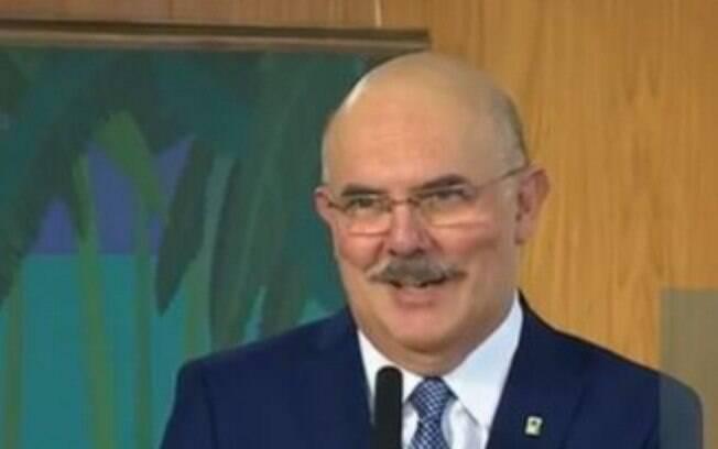 Novo ministro da Educação, Milton Ribeiro, durante posse