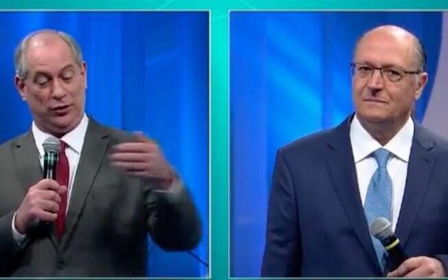 Ciro Gomes e Geraldo Alckmin protagonizaram várias discussões de propostas durante o debate da RedeTV!