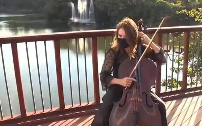 Lara Ziggiatti, violoncelista do Quinteto de Cordas da Sinfônica de Campinas.