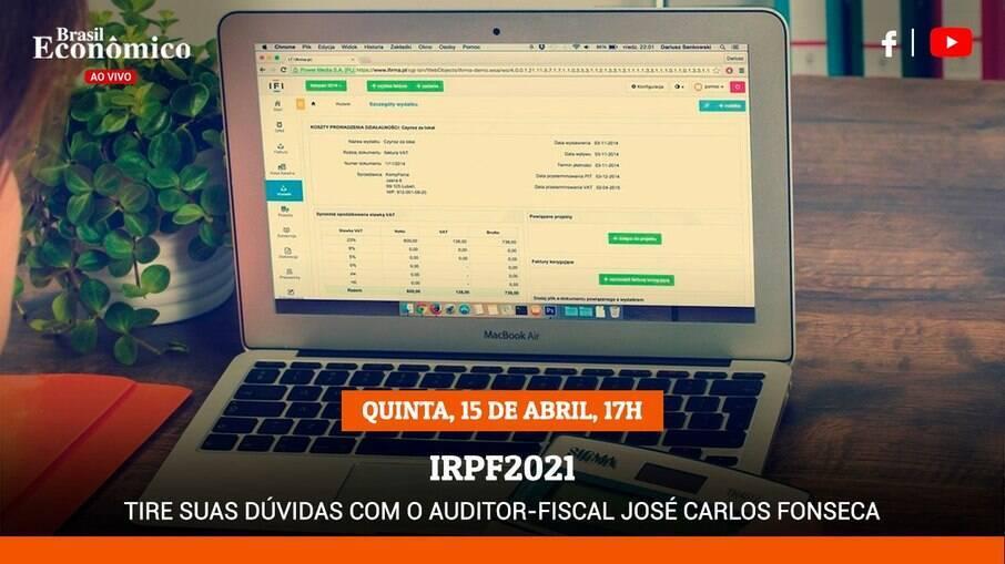 Tire suas dúvidas sobre a declaração do IR na live do Brasil Econômico desta quinta-feira (15)