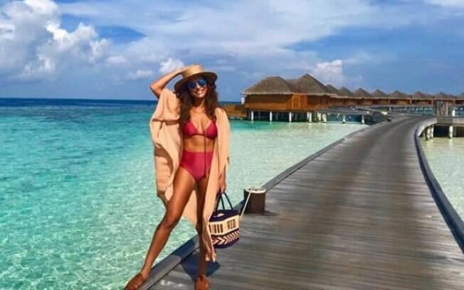 Juliana Paes compartilhou momento nas Maldivas para os seus seguidores nas redes sociais