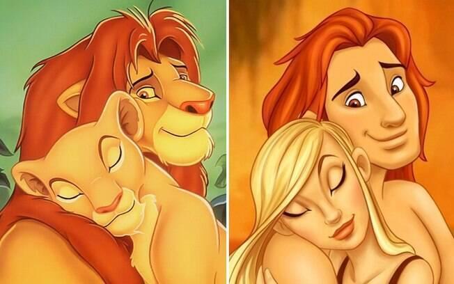 Os traços dos leões se mantiveram, e ainda assim ficaram bem humanos.