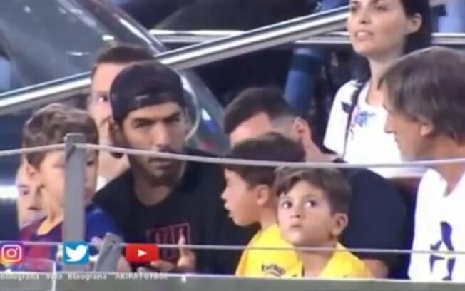 Filho de Messi foi zoado por Suárez