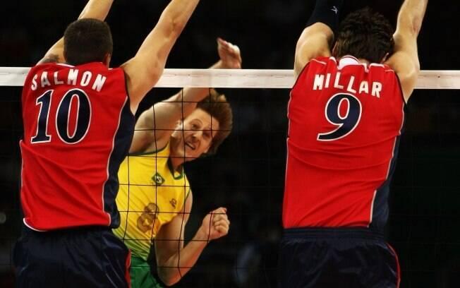 Murilo já não teve tanta sorte nas  Olimpíadas. Jogou em Pequim 2008 e perdeu a final  para os Estados Unidos