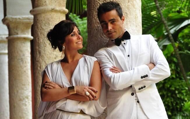 Giovanna Antonelli e Ricardo Pereira em cenas de