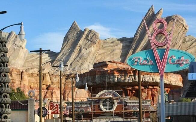 Radiator Springs, cidade onde vivem protagonistas do filme é o centro da nova área