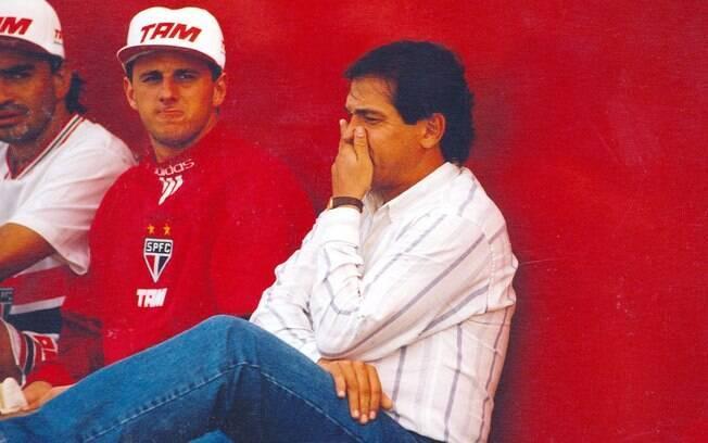 Rogério Ceni ao lado de Muricy Ramalho em  1996