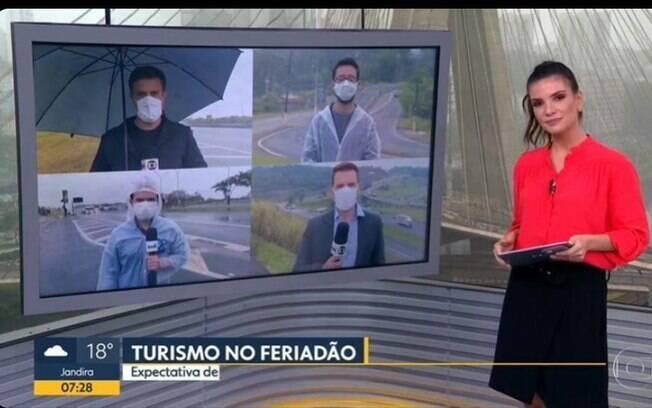 Repórter confunde Sabina Simonato com Glória Vanique