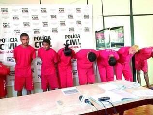Tráfico de drogas.   Oito pessoas foram presas durante a operação