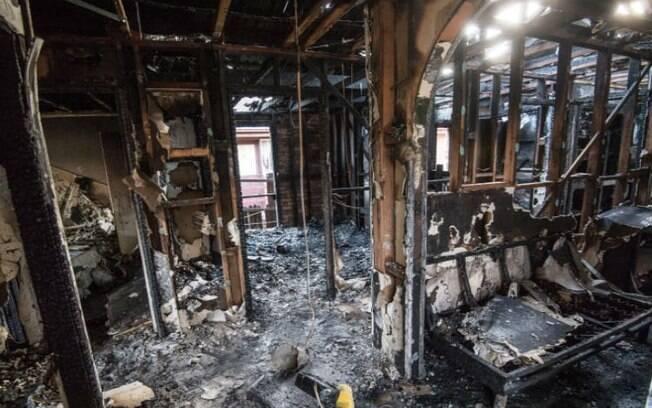 Incêndio foi provocado quando menino queimou papel no fogão e o levou para o quarto, ateando fogo na cama