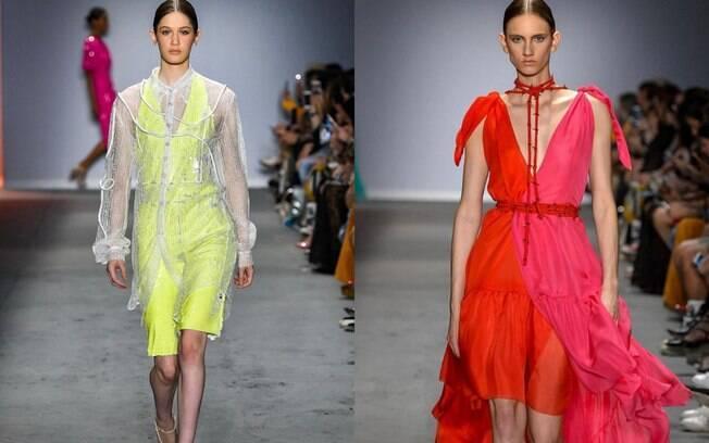 Fabiana Milazzo levou uma coleção cheia de cores para a passarela da SPFW e também misturou tendências, como o decote
