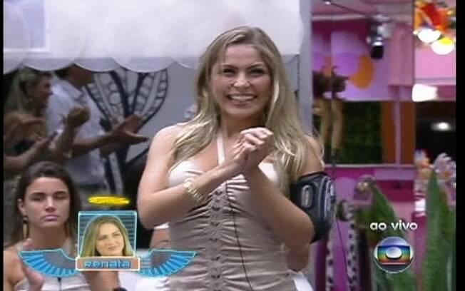 Renata ganha o colar do Anjo e pode imunizar alguém na formação do Paredão