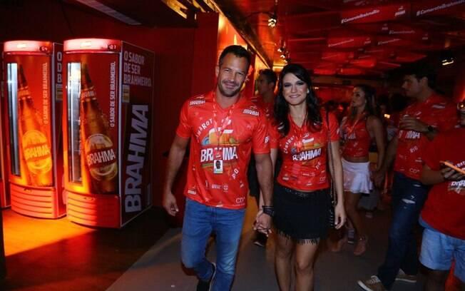 Malvino Salvador com a namorada, Kira Grace
