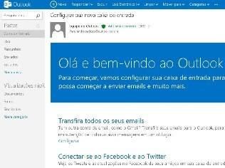 Outlook.com tem visual mais limpo do que o Hotmail