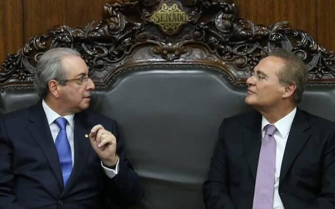 Eduardo Cunha e Renan Calheiros se reuníram na tarde desta segunda-feira (18)