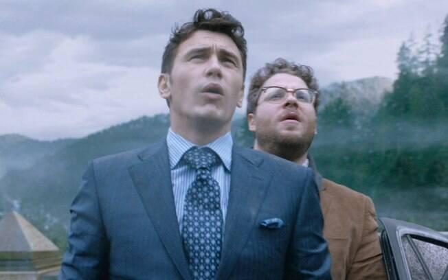 James Franco e Seth Rogen são protagonistas do filme 'A Entrevista'. Eles interpretam dois repórteres que são enviados à Coréia do Norte para matar o ditador Kim Jong-un. Foto: Divulgação