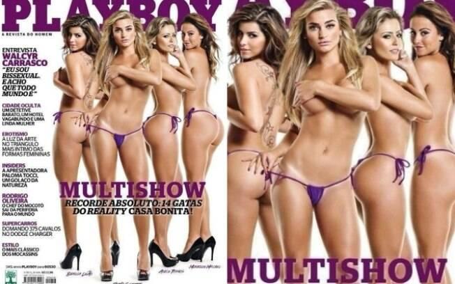 Em maio, a Playboy reuniu as garotas do programa 'Casa Bonita', do Multishow