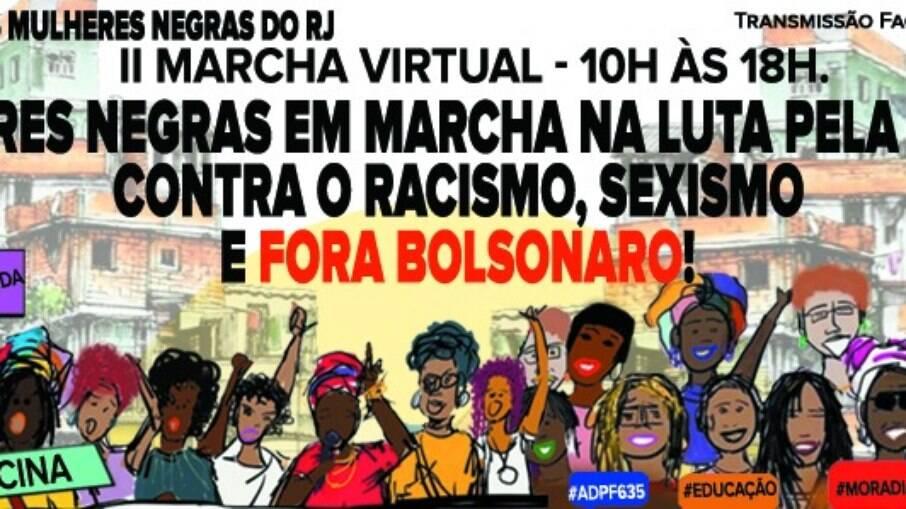 Marcha das mulheres negras no RJ