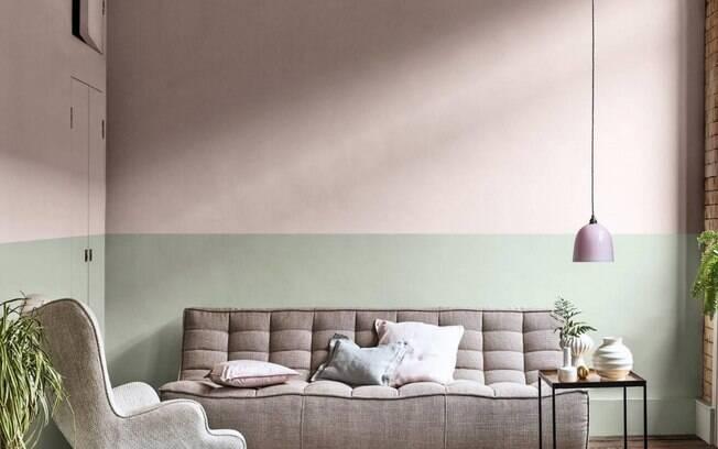 A cor do ano da Coral mescla perfeitamente com outras tonalidades em quartos e salas.