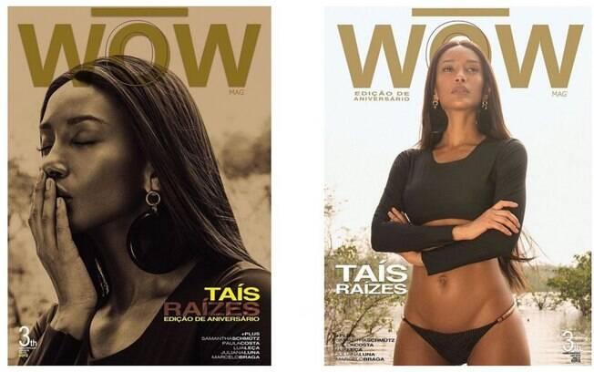 Tais Araújo em ensaio para comemorar o aniversário de 3 anos da revista Wow